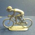 """Cycliste en metal """"gros nez"""" - Non peint"""
