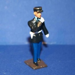 Gendarme Français - Tenue années 60-70 - Avec sifflet - Ech 1/32
