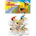 Cyclistes Cofalu peints par 6 en sachet