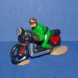 Motorbike green following the cycling races