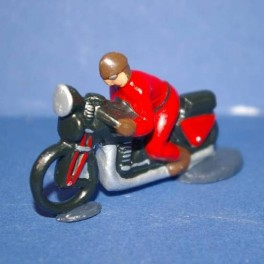 Motorbike red following the cycling races