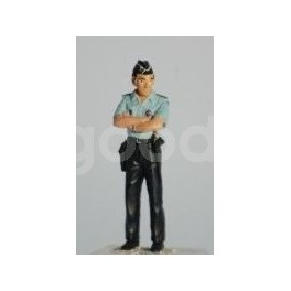 French Gendarme Biker arms at back - Unpainted -Scale 1/43