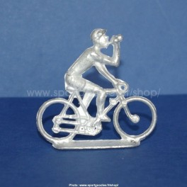 Unpainted metal cycling figure calling assistance - Type Salza - 1/32 Scale