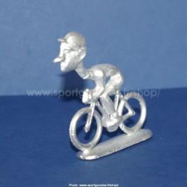 "Die-cast cyclist ""big head"" straight neck - Unpainted"