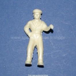 Unpainted plastic driver figure for Salza cars - Type Salza- 1/32 Scale
