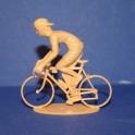 Cycliste rétro position grimpeur - Non peint
