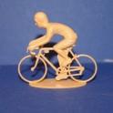 Cycliste rétro position sprinteur - Non peint