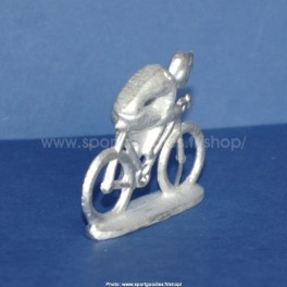 Die-cast cyclist - Unpainted