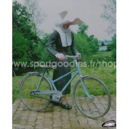 Nun with her bicycle