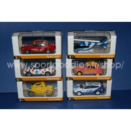 Set of 6 cycling race cars scale 3 inches