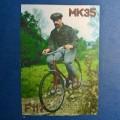 Homme à vélo années 40