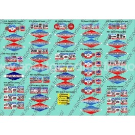 Plaques TDF Coll. Hachette véhicules publicitaires - N°48 à 65