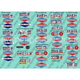 Plaques TDF Coll. Hachette véhicules publicitaires - N°66 à 86