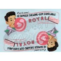 Decals Chewing-Gum Royal Mint 1/43