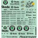 Decalcomanies Tour de France & logos Skoda 2003-2010 noir 1/43 - par 2