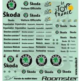 Decals Tour de France & Skoda logo 2003-2010 black 1/43 -Set of 2