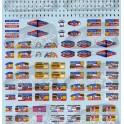 Decals Tour de France car signs 1/43