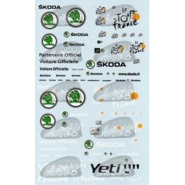 Decals Tour de France & new Skoda logo 2011 1/43 - set of 2