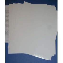 White decal paper for laser and copy printer