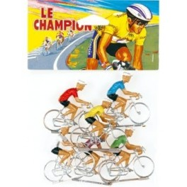 Bag of 6 painted Cofalu cyclists