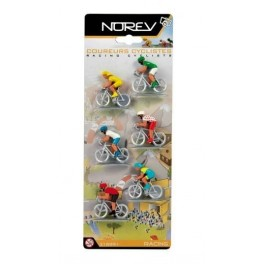 Cycling plastic figures set of 6.