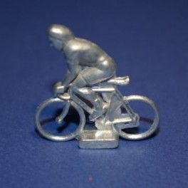 Small die-cast cyclist - Climber