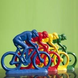 Cycling figure 23 cm (9.5'') Set of 4