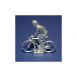 Small die-cast cyclist  with nickel plating