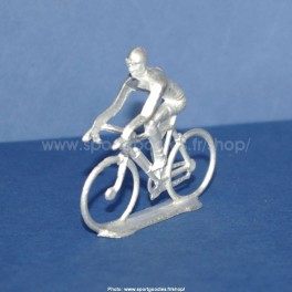 Unpainted  white-metal cycling figure - Type Salza rider position - 1/32 Scale