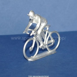 white-metal cycling figure - Type Salza climber position