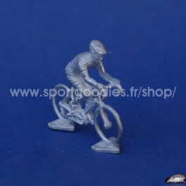 Cyclist 1/43 Norev Type in white metal - Unpainted