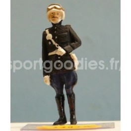 French Gendarme Biker from the 50's standing - Unpainted -Scale 1/43