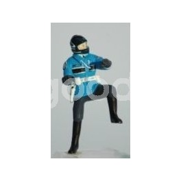 French Gendarme Biker one foot on ground - Unpainted -Scale 1/43