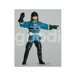 "French Gendarme Biker ""Stop Here"" - Unpainted -Scale 1/43"