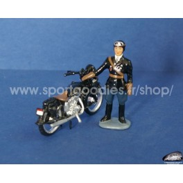 Motorbike Terrot gendarmerie & driver Year 40's-50's - Ech 1/32