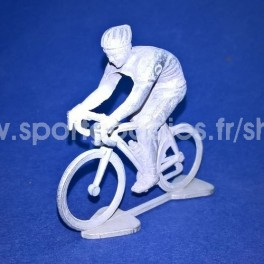 3D Die-cast cyclist modern - Unpainted