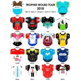 World Tour 2018  team jerseys stickers