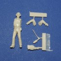 TV reporter 2 with video cam - Unpainted -Scale 1/43