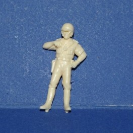 French Gendarme Biker with old uniform - Unpainted -Scale 1/43