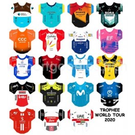 World Tour 2020  team jerseys stickers