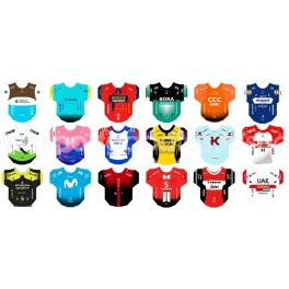 World Tour 2019  team jerseys stickers