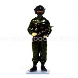 RAID French Police Elite Unit wearing helmet- Scale 1/32