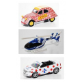 Set of 3 cycling race cars scale 3 inches