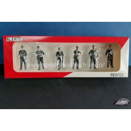 Set of 6 french gendarmes from the 60's and 70's - 1/43 scale