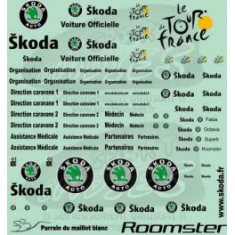 Decals Tour de France & Skoda logo 2003-2010 black 1/43 -Set of 2