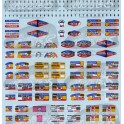 Decals Tour de France car signs 1/43