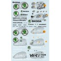 Decals Tour de France & new Skoda logo 2011 1/43 - set of 2