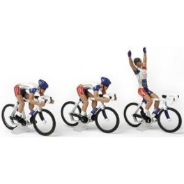 3 cyclistes miniatures Tour de france Cycling figure Cofidis 2019