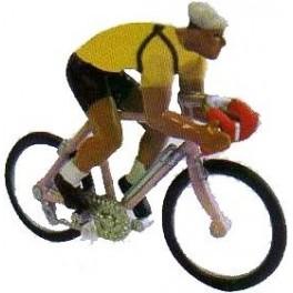 Tour de France 1955 Yellow Jersey cyclist (L. Bobet)